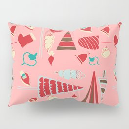 Vintage Christmas Pink Pillow Sham