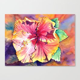 Tropical Hibiscus 13 Canvas Print