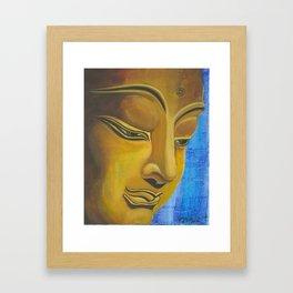 Thoughtful Buddha Framed Art Print