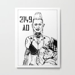 Punk Cyborg Woman Metal Print