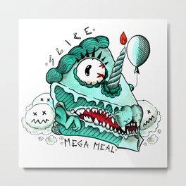 MEGA MEAL Metal Print