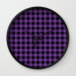 Plaid (purple/black) Wall Clock