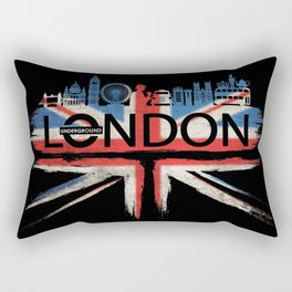London Pride_Black Rectangular Pillow