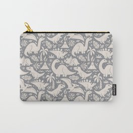 Delightful Dinos (gray) Carry-All Pouch