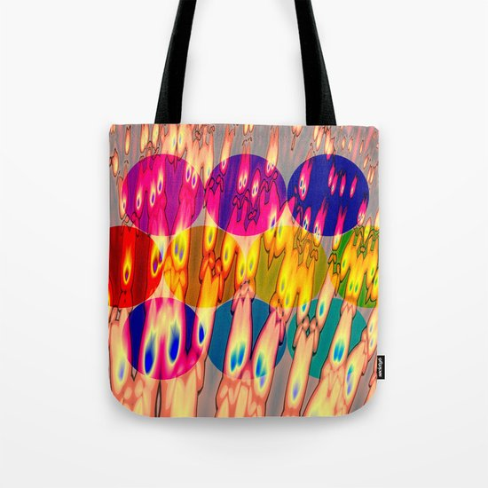 firebodies with blue eyes II forms Tote Bag