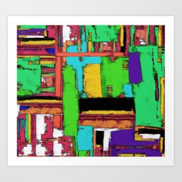 The big room 2 Art Print