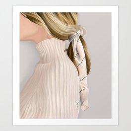 Chic Sweater Girl Art Print