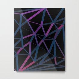 3D Futuristic GEO Lines Metal Print