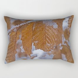 snow and leaves Rectangular Pillow