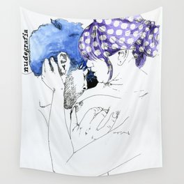 NUDEGRAFIA - 33 Purple Hair Wall Tapestry