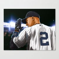 yankees Canvas Prints featuring Jeter by Ryan Ketley