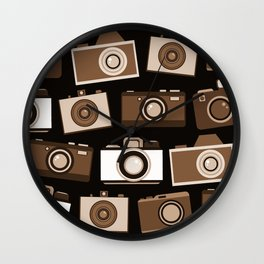 cameras (black) Wall Clock