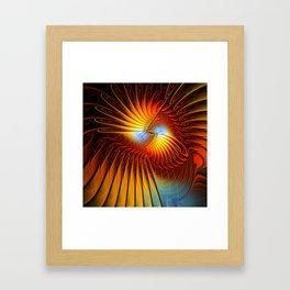 flames on black -9- Framed Art Print