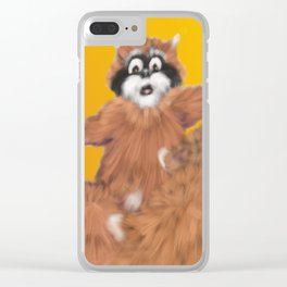 Raccoon Series: Come Look! Clear iPhone Case