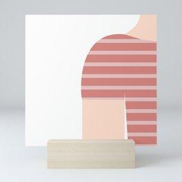 Pink & White T-Shirt Mini Art Print
