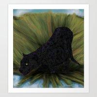 jaguar Art Prints featuring Jaguar by Ben Geiger