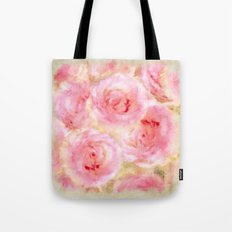Bed of roses- Watercolor rose Illustration Tote Bag