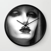 depression Wall Clocks featuring Depression by Roger Leao