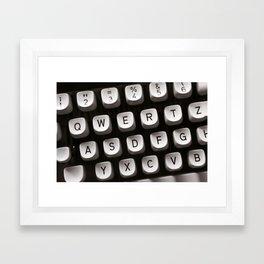 OLD TYPEWRITER Framed Art Print