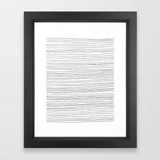 Fine Lines Framed Art Print