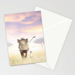 Warthog & Meerkat Stationery Cards