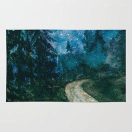 Starlit path Rug