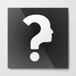 Human Face With Question Mark Metal Print