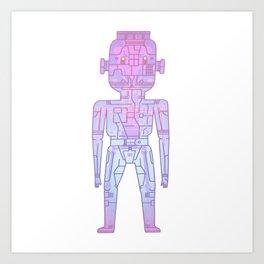 robot - Mr PwarPaps Art Print
