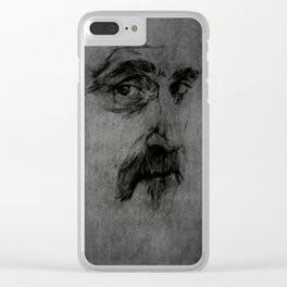 Frank Zappa portrait Clear iPhone Case