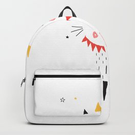 CAT PRINCESS ON WHITE Backpack