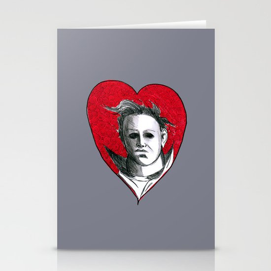 Micheal Myers (All Heart) Stationery Cards