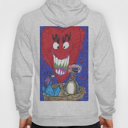The Valentine Monster Meets The Love Birds Hoody