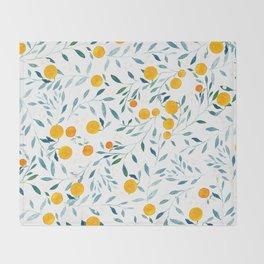 Orange Tree Throw Blanket