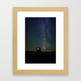 Camping Out Under the Stars and Dreaming of the Milky Way Framed Art Print