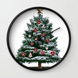 Christmas Tree by Chrissy Wall Clock