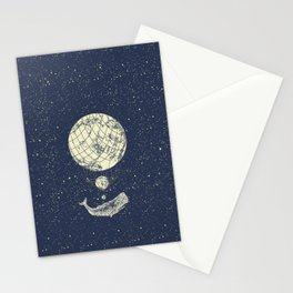 Space whale Stationery Cards