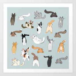 Cat Butts Art Print