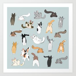 Cat Butts Art Print