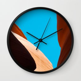 Curves of the Valley Wall Clock
