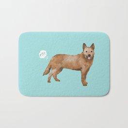 Australian Cattle Dog red heeler funny fart dog breed gifts Bath Mat