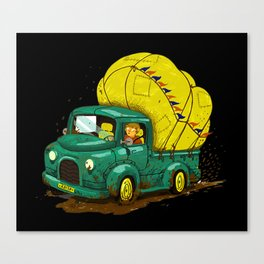 trucks and luggage Canvas Print