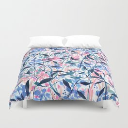 Wandering Wildflowers Blue Duvet Cover