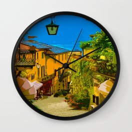 Italian alley painting travel street beautiful photography artsy breathtaking best interior design bedroom house decor gift wanderlust vintage classic Wall Clock