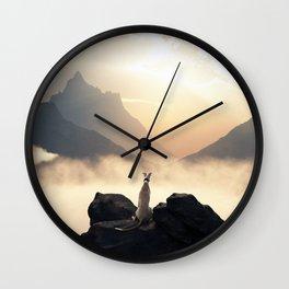 Sunset of a greyhound Wall Clock