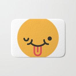 Emojis: Crazy face Bath Mat