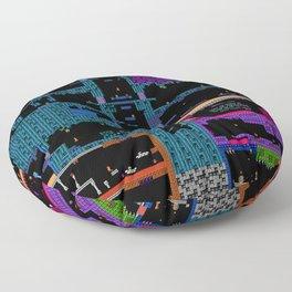 Space Platformers Floor Pillow