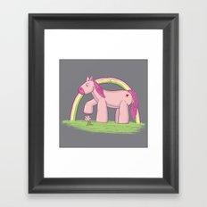 My Raging Pony Framed Art Print