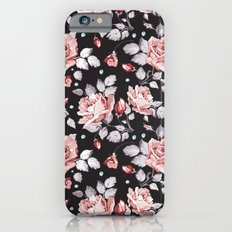 Vintage Pink Rose Flowers iPhone 6s Slim Case