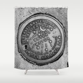 New Orleans Water Meter Shower Curtain