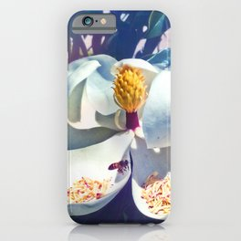 Magnolia Blossom and Bee iPhone Case